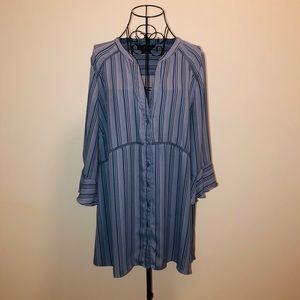 Michel studio collection- ruffle sleeve blouse
